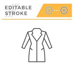 Coat editable stroke line icon vector