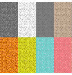 collection of eight seamless patterns with a patte vector image