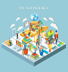 Concept learning and reading books vector