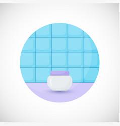 cosmetics jar product flat icon vector image