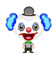 crazy clown vector image