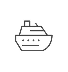 cruise ship line outline icon vector image