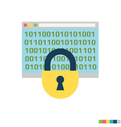 cryptography flat icon vector image