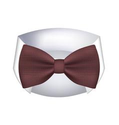 Dark red bow tie vector