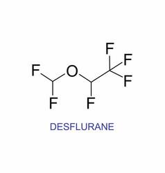 desflurane structural formula vector image