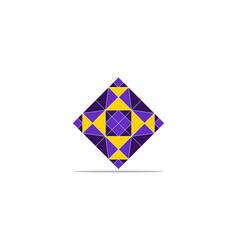 diamond logo template icon design vector image