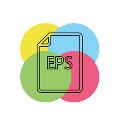 Download eps document icon - file format vector