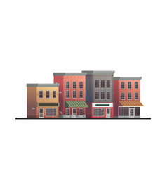 Downtown building with shop or store isolated on vector