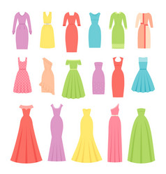 dress for women female textile flat design vector image