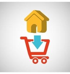 E-commerce store web page icon digital vector