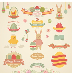 easter ribbons vector image