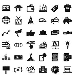 Ecommerce icons set simple style vector