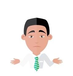 Emotion avatar man happy success vector
