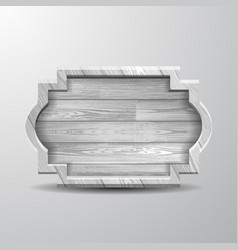 Empty old white rustic wooden sig vector