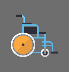 empty wheelchair icon medical wheel chair vector image