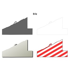 Erie Map Icon Set vector