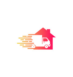 estate delivery logo icon design vector image