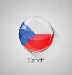 European flags set - Czech vector image