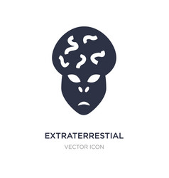 Extraterrestial head icon on white background vector