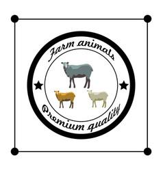 Farm animals silhouettes premium quality isolated vector