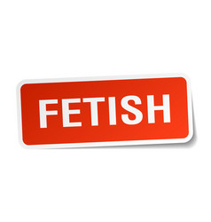 Fetish square sticker on white vector