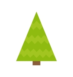 Fir-tree icon green triangle simple shape form vector