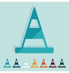 Flat design road cones vector