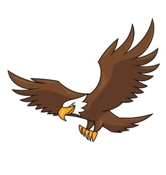 Flying eagle 2 vector image