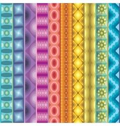 Geometric various strips motifs vector