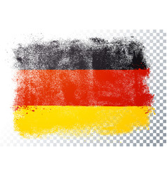 germany flag with old grunge and vintage texture vector image