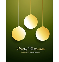 golden merry christmas design vector image