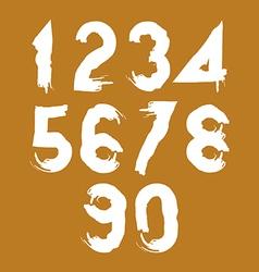 Handwritten contemporary digit set doodle vector image