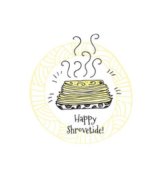 Happy shrovetide hand drawn vector