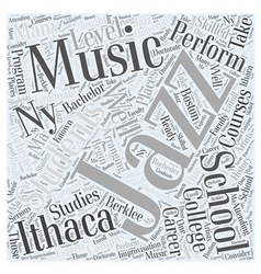 Jazz Music Schools Word Cloud Concept vector
