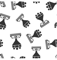 lead management icon seamless pattern background vector image
