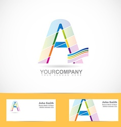 Letter A colored logo vector image