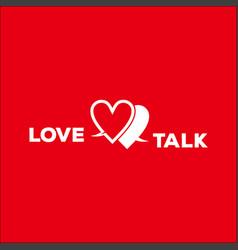 love talk logo design vector image