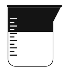 Measuring cup icon simple style vector