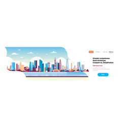 modern city skyscraper panorama view cityscape vector image