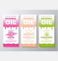 natural oil abstract packaging designs vector image