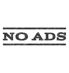 No ads watermark stamp vector