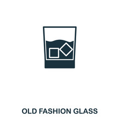 old fashion glass icon line style icon design ui vector image