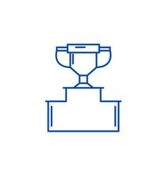 pedestal line icon concept pedestal flat vector image