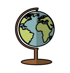 Planet earth school supply vector