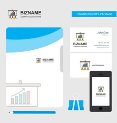 presentation business logo file cover visiting vector image