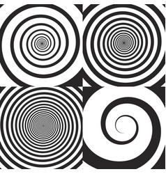 Psychedelic spiral swirl vector