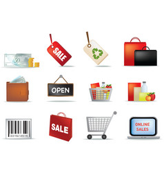 retail icon set vector image