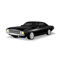 retro car black color white background imag vector image