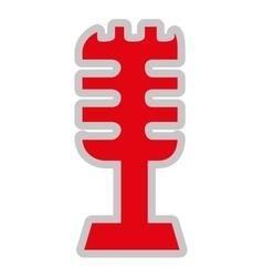 retro microphone isolated icon design vector image