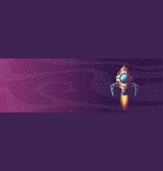 rocket launch banner vector image